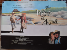 Whales of August Original UK Quad Poster, Vincent Price, Bette Davis, 1987